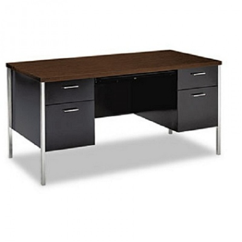 Hon 34962 Double Pedestal Metal Desk