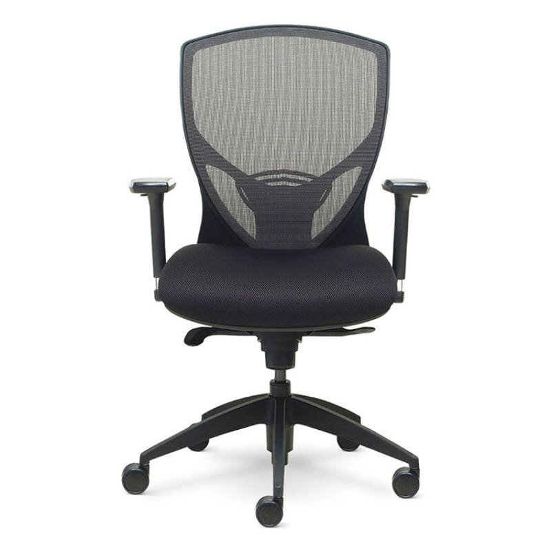 @nce By 9to5 Seating Mesh Back Computer Chair W/ Black Mesh Back, Black  Fabric Seat, Adjustable Lumbar U0026 Adjustable Arms   @216