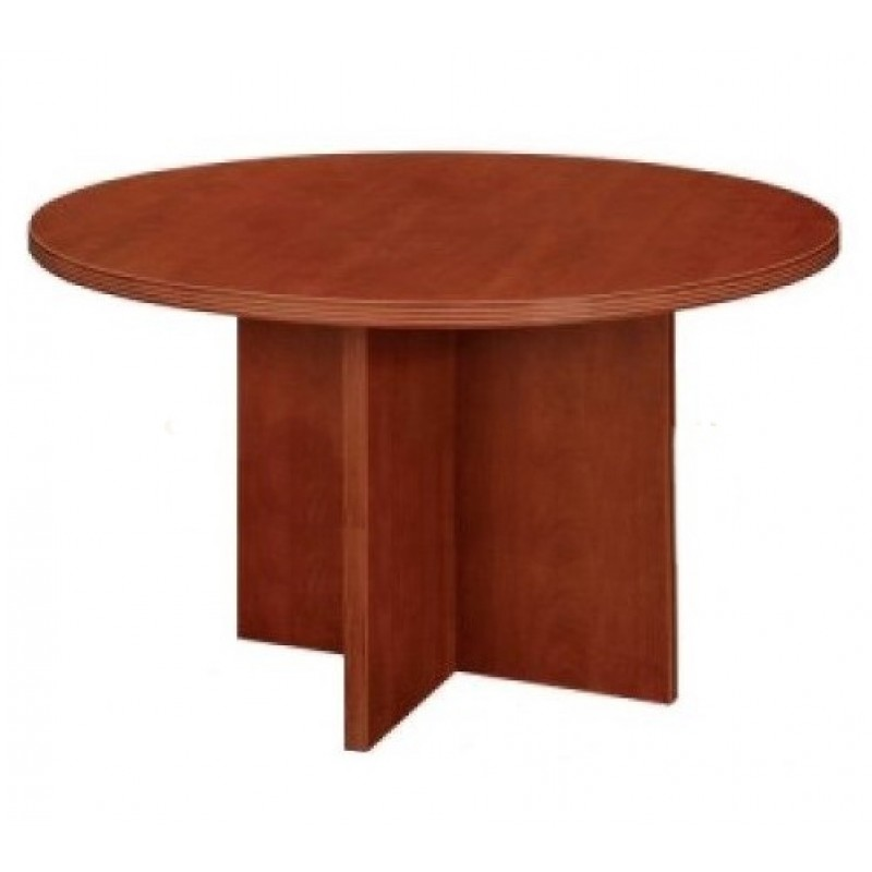 Cherryman Amber Laminate Round Conference Table A - Round wood conference table