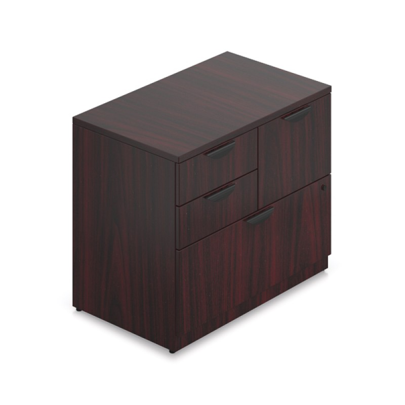 offices to go superior laminate mixed storage unit with lock sl3622msf. Black Bedroom Furniture Sets. Home Design Ideas