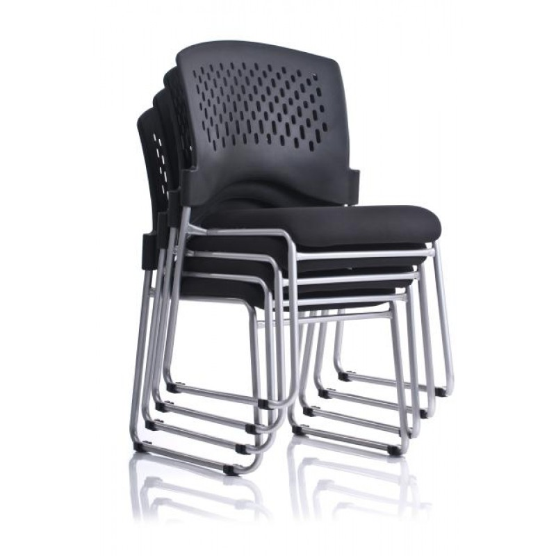 sc 1 st  Discount Office Furniture & Ergo Monaco Sled Base Stacking Chair V5000SF
