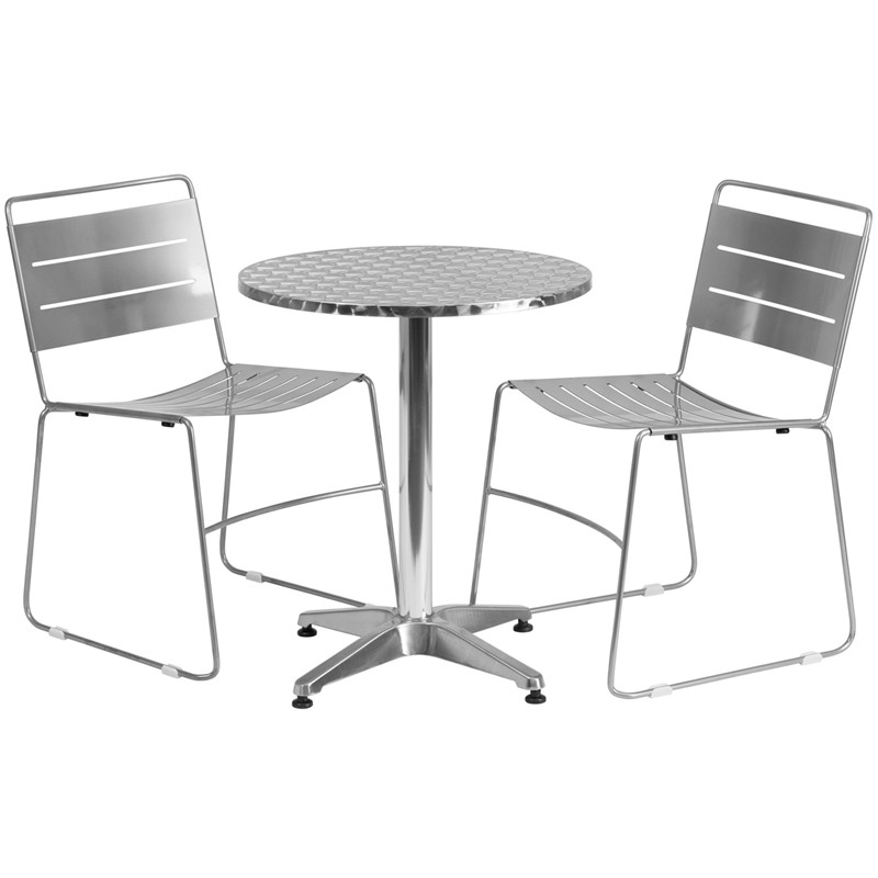 flash furniture 23 5 39 39 round aluminum indoor outdoor table with 2