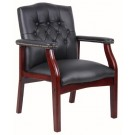 Boss Guest Chair with Mahogany Wood Finish B959