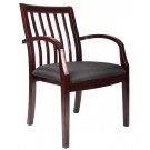 Boss Slat Back Wood Guest Chair - B9556M-Bk