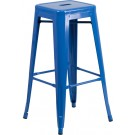 Flash Furniture 30'' High Backless Metal Indoor-Outdoor Barstool with Square Seat