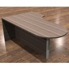 "Cherryman Amber 71"" x 30/42"" Bullet Shape Desk with Modesty Panel Right Variation - AM-374R"