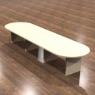 "Cherryman Amber Laminate 168"" Racetrack Conference Table - AM-410N"