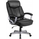 Flash Furniture HERCULES Series 500 lb. Capacity Big & Tall Black Leather Executive Swivel Office Chair GO-1850-1-LEA-GG