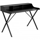 Flash Furniture Black Computer Desk with Top Shelf NAN-2124-GG