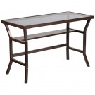 Flash Furniture Contemporary Desk with Dark Gray Tempered Glass NAN-YLCD1237-GG