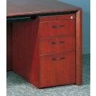 Mayline Corsica Box Box File Wood Pedestal Filing Cabinet for Credenza/Return CBBFC
