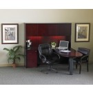 """Mayline Corsica 60"""" Peninsula Desk, Credenza, Hutch with Wood Doors, Mobile CT19"""