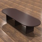 """Cherryman Amber Laminate 144"""" Racetrack Conference Table - AM-409N"""