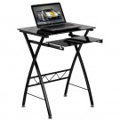 Flash Furniture Black Tempered Glass Computer Desk with Pull-Out Keyboard Tray NAN-CP-60-GG